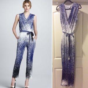 🔥 Kawena Dot Ombré Print 100% Silk Jumpsuit 🔥